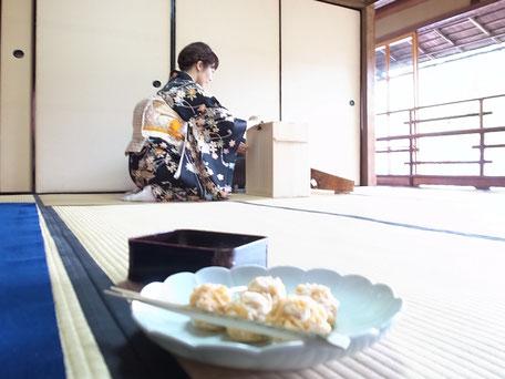 無鄰菴『もみじの茶会』の画像