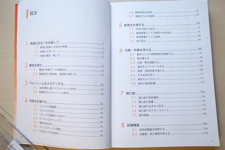 書籍『住宅設計と環境デザイン』目次の画像