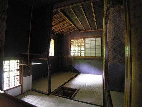 高桐院の茶室「松向軒」の画像