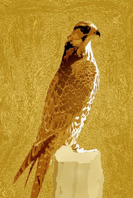 Kunstwerk: Falke 2