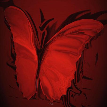 Kunstwerk: My Butterfly red
