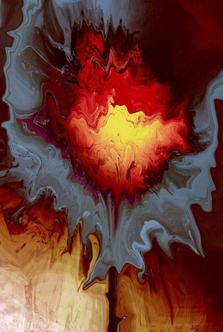 Kunstwerk: Feuerblume
