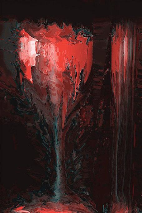 Kunstwerk: Feuerglas