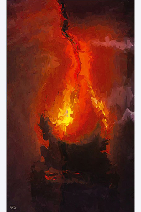 Kunstwerk: Feuer des Philosophen