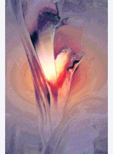 Kunstwerk: Geburt einer Blume