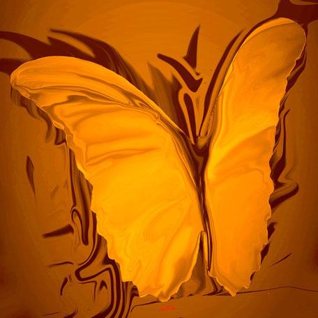 Kunstwerk: My Butterfly yello