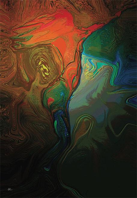 Kunstwerk: Energie im Morgenrot