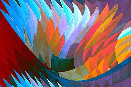 Kunstwerk: Kristallus blau
