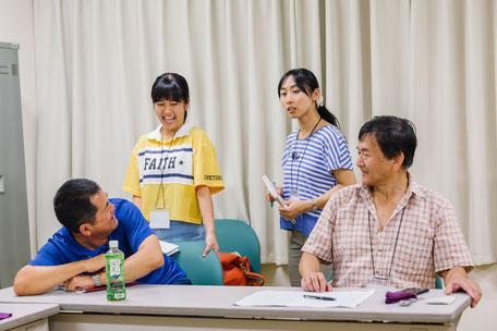 英語劇の練習