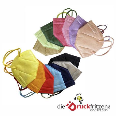 Zertifizierte FFP 2 Masken in Blau, Grau, Schwarz, Pink - ab 0,68 €
