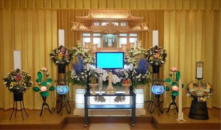 祭壇内生花 別途50,000円(税別)