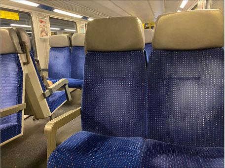 Sitze im Zug