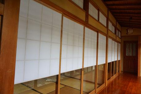 筑紫野市で障子の張替え1(施工後)