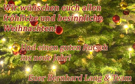 Fröhliche Weihnachten und einen guten Rutsch ins neue Jahr!