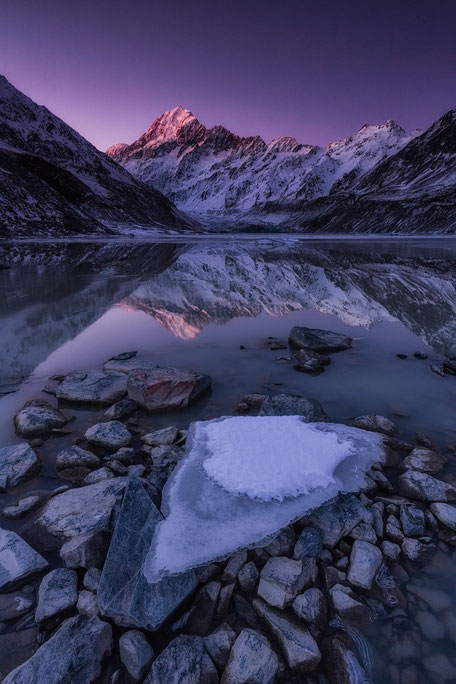 Mount Cook at dusk. New Zealand Photography Workshop