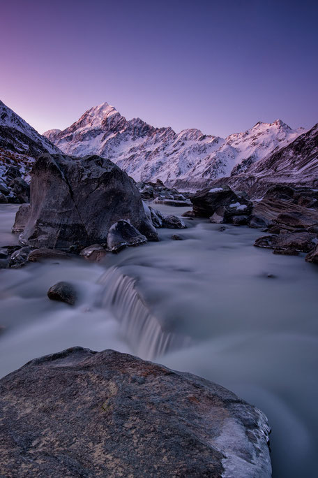 Mount Cook twilight. New Zealand Photography Workshop
