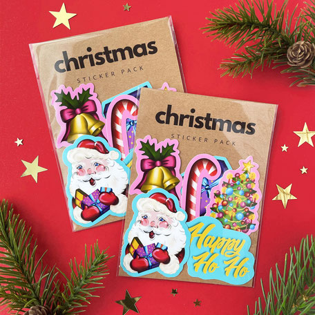 colorful christmas sticker pack
