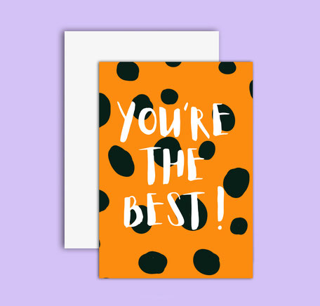 cheetah patterned greeting card you´re the best