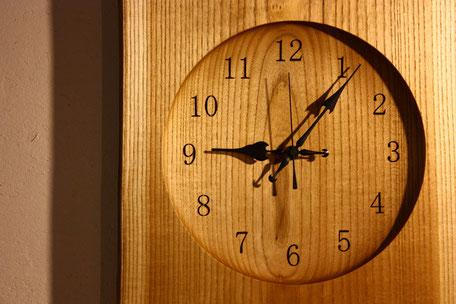 壁掛け時計 ウォールクロック 木 時計 ナチュラル ぬくもり インテリア 飛騨高山