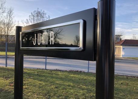 Parkplatzschilder hochwertig, individuell, nach RAL-Farbton, mit Wechselsystem des Schildes, Premium Design von ParkSign Parkplatzschilder
