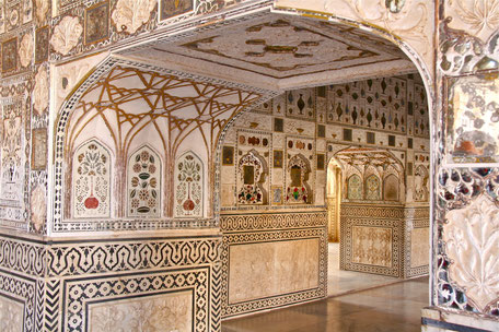 L'incroyable beauté du fort d'Amber à Jaipur (Rajasthan)