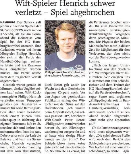 4. Spieltag, Holsteinischer Courier