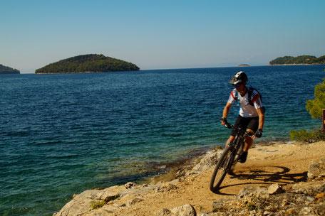 Mountainbike Fahrrad Coasttrail Küste Meer Urlaub