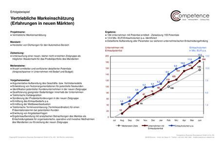 Competence Erfolgsbeispiel vertriebliche Markteinschätzung