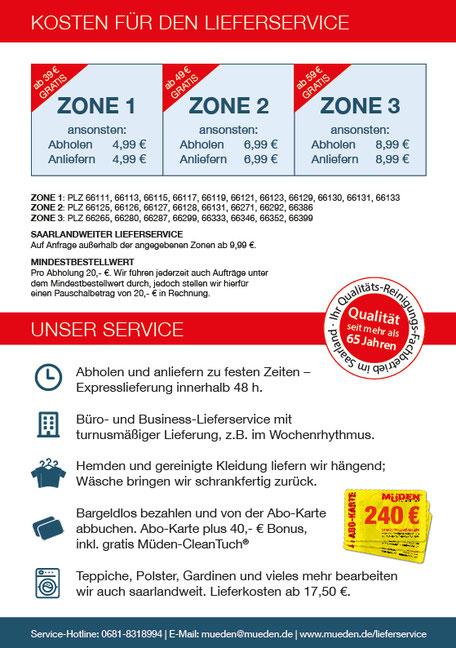 mueden.de, textiler Lieferservice, Bild von Rückseite Kosten Lieferservice