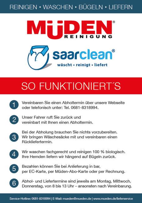 mueden.de, aktuelle Werbung, Müden-Saarclean Lieferservice