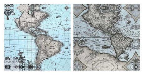 Cuadro lienzo mapa mundi