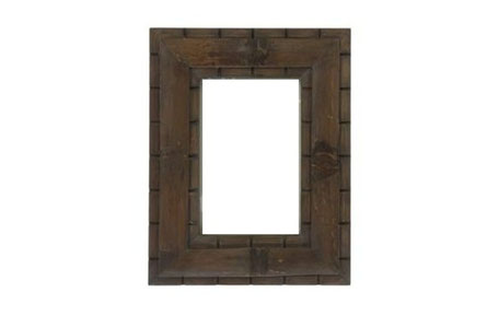 Marco de foto de madera gris antique