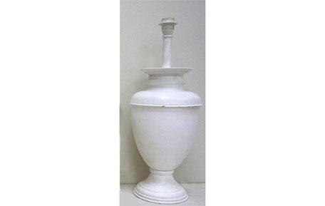 Pie de lámpara copa blanca