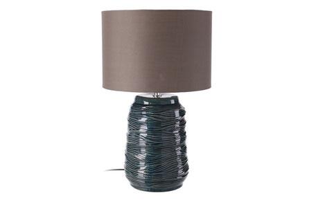 Lámpara de sobremesa de cerámica verde oscuro