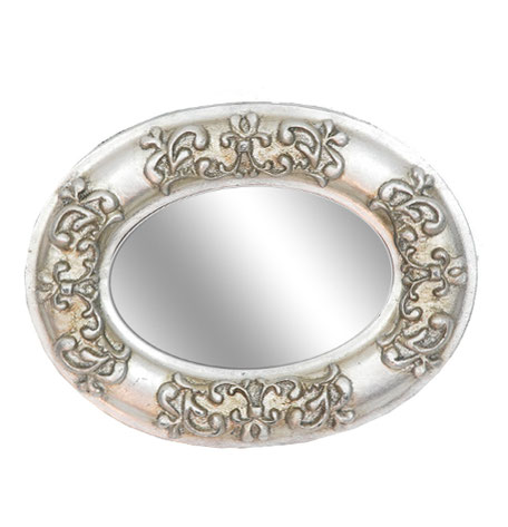Espejo ovalado plata
