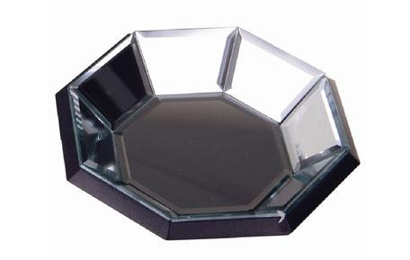 Bandeja octagonal de espejo