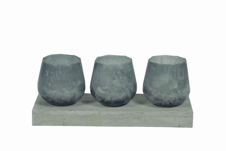 Set porta velas cristal 3 unidades
