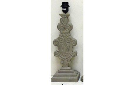 Pie de lámpara copa de madera