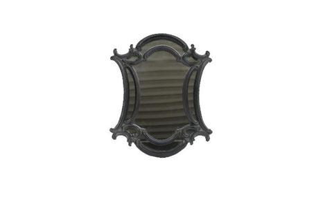 Espejo ovalado negro