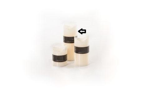 Bloque vela con aroma de vainilla de color crema