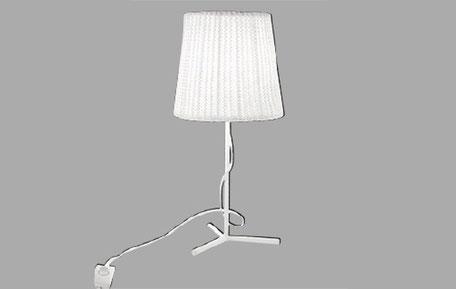 Lámpara sobremesa blanca Wool
