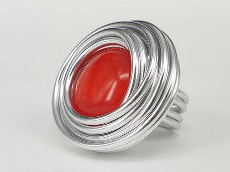 Aludraht, Schmuck aus Aluminium, Aluminiumdraht, Ringe, handgemacht