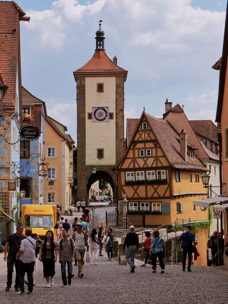 Fairy-tale like house in Rothenburg
