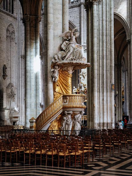 Pulpit of truth, Chaire de vérité, Cathédrale d'Amiens, Amiens Cathedral, Picardie