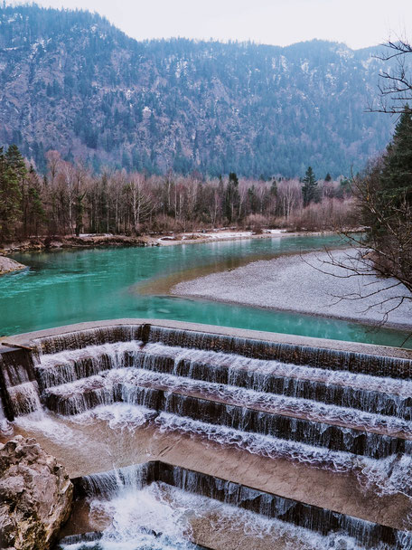 Lechfall Waterfall in Füssen (Bavaria)