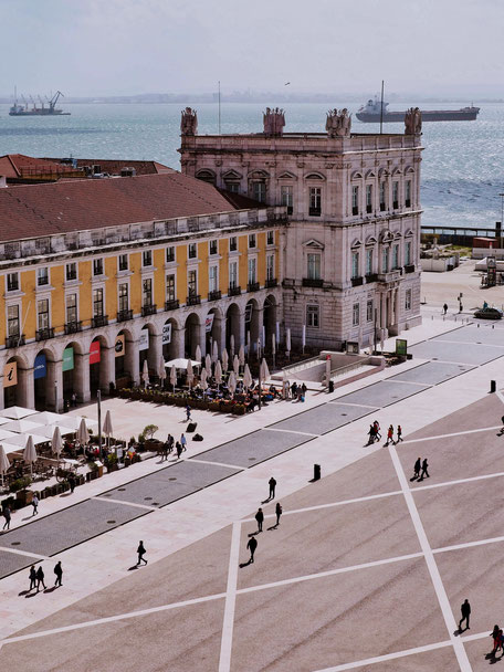 Geometrical pattern of Praça do Comércio