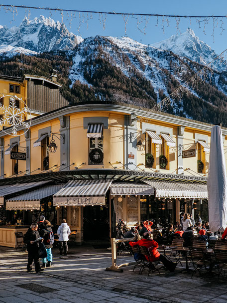 Place Balmat in Chamonix (French Alps, Alpes françaises)