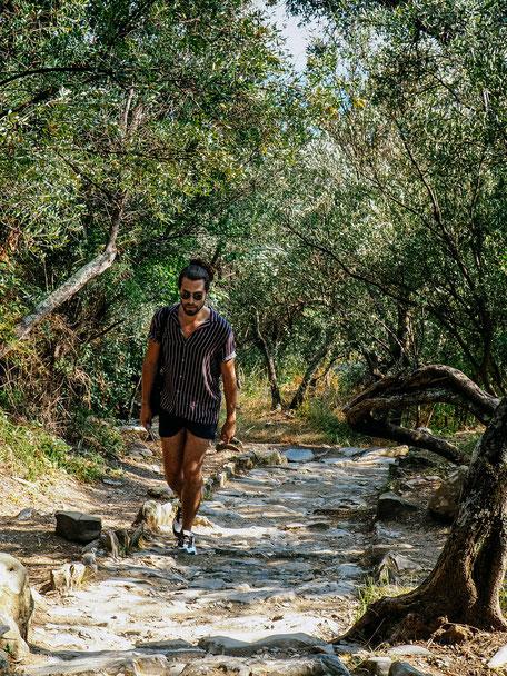 Rafael hiking