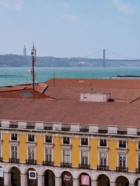 View of the Tagus river and the Ponte 25 de Abril