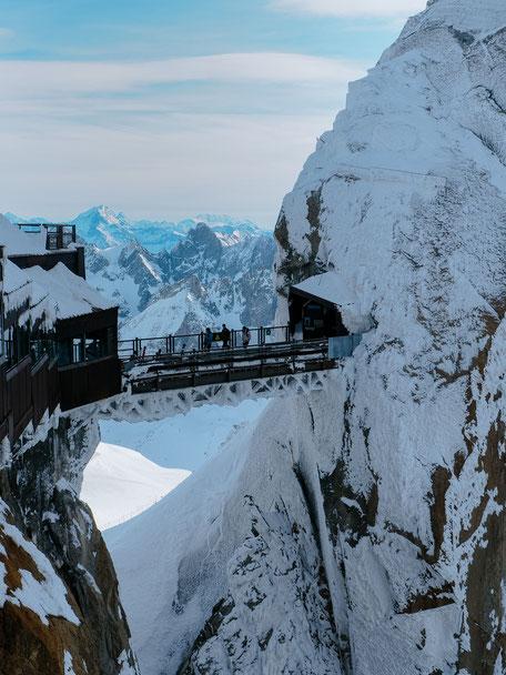 Bridge, Aiguille du Midi, Chamonix (French Alps, Alpes françaises)